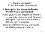 sample introduction a lead that invites the reader in52