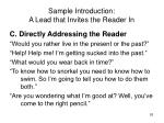 sample introduction a lead that invites the reader in53