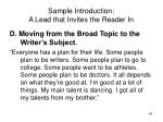 sample introduction a lead that invites the reader in54