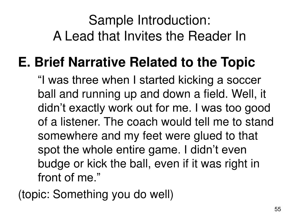 Sample Introduction: