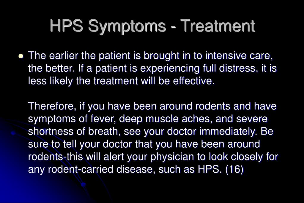 HPS Symptoms - Treatment