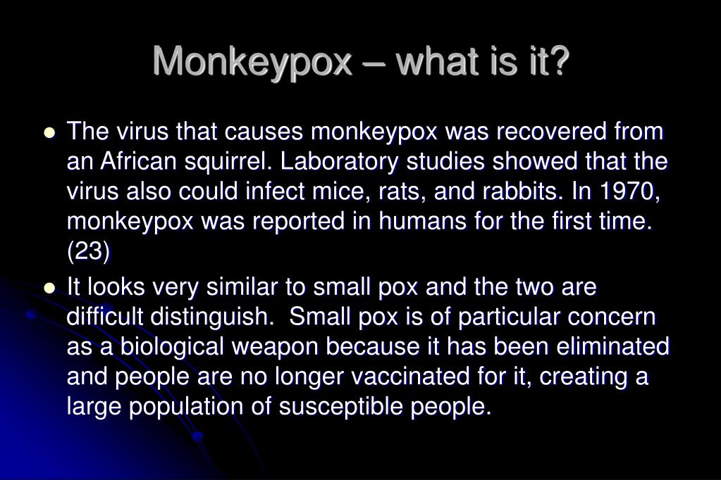 Monkeypox – what is it?