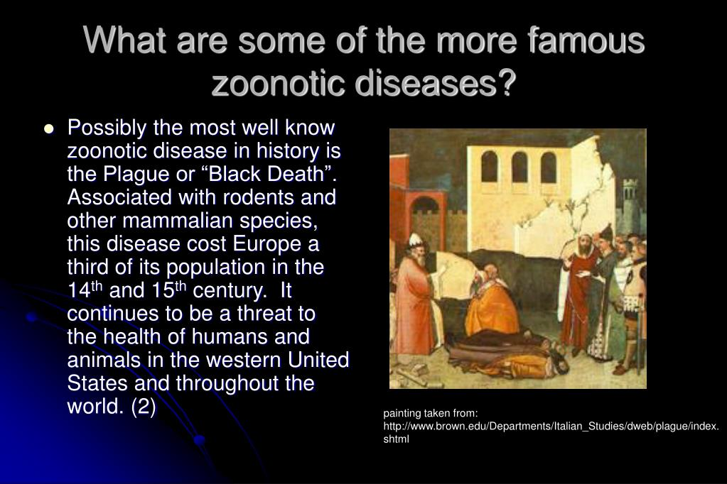 What are some of the more famous zoonotic diseases?