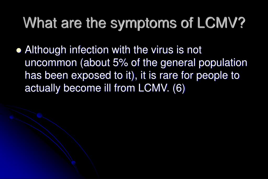 What are the symptoms of LCMV?