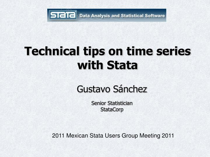 Technical tips on time series with Stata