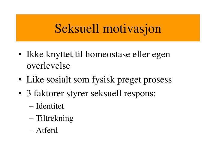 Seksuell motivasjon