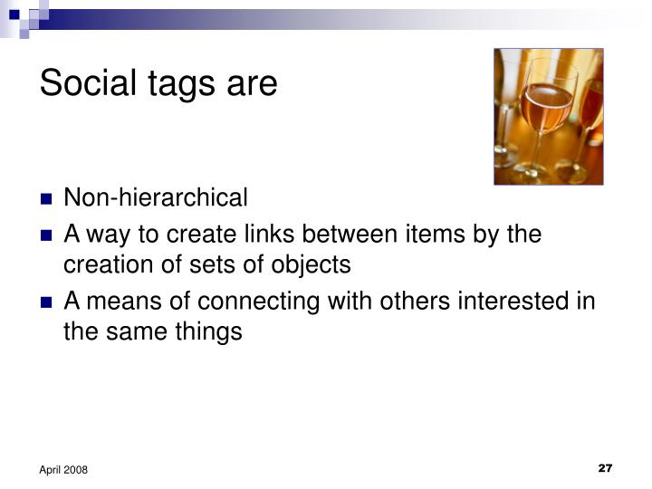 Social tags are
