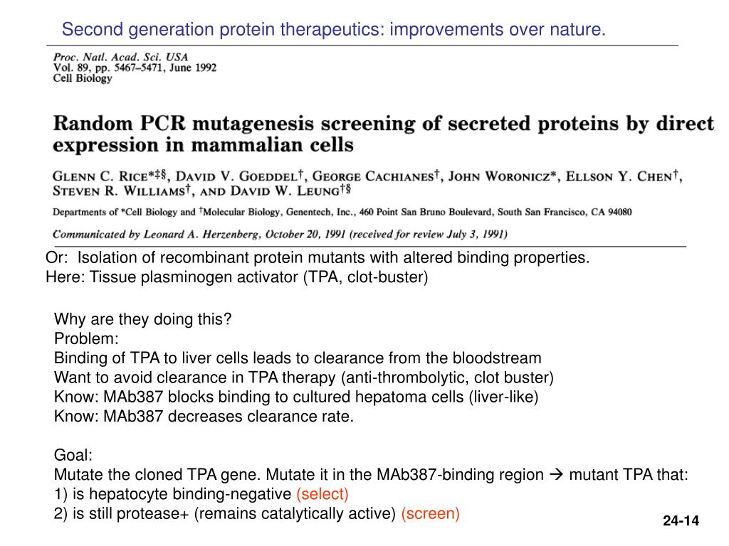 Second generation protein therapeutics: improvements over nature.