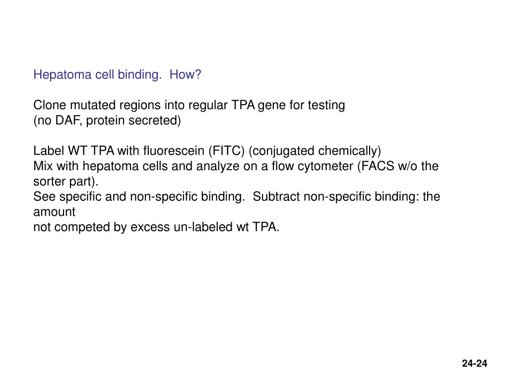 Hepatoma cell binding.  How?