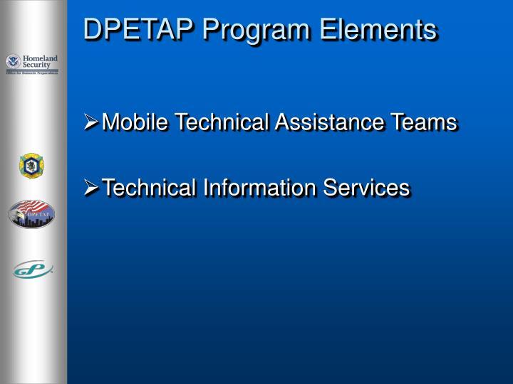DPETAP Program Elements