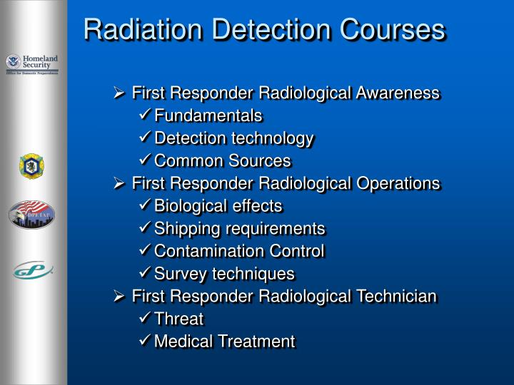 Radiation Detection Courses