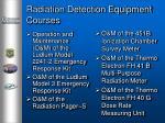 radiation detection equipment courses