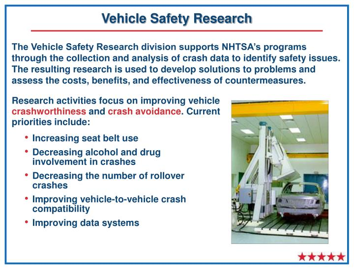 Vehicle Safety Research
