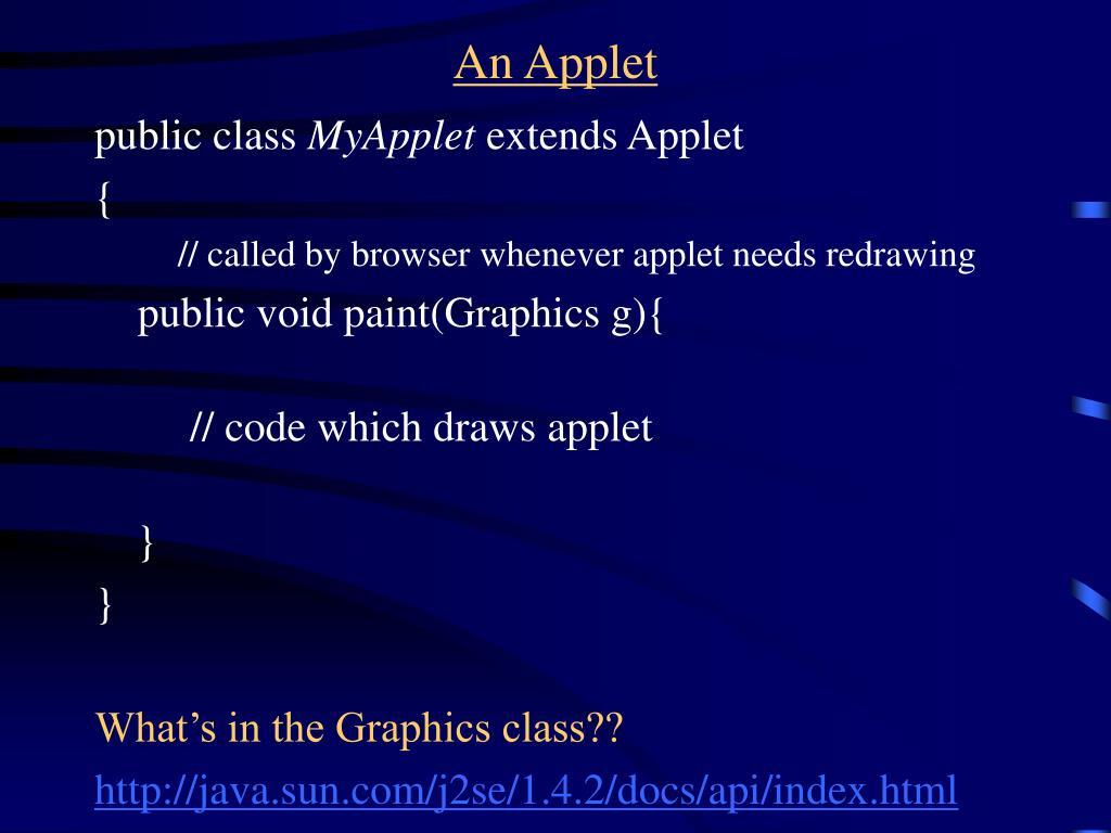 An Applet