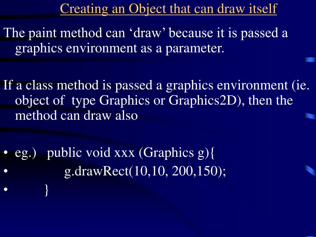 Creating an Object that can draw itself