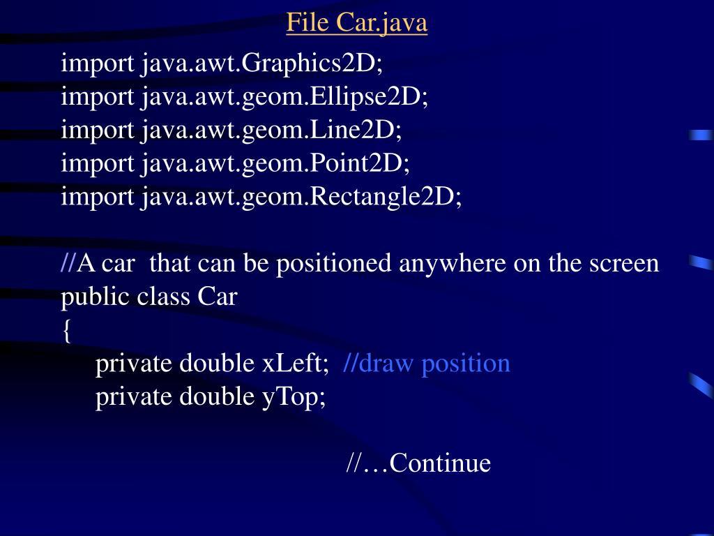 File Car.java