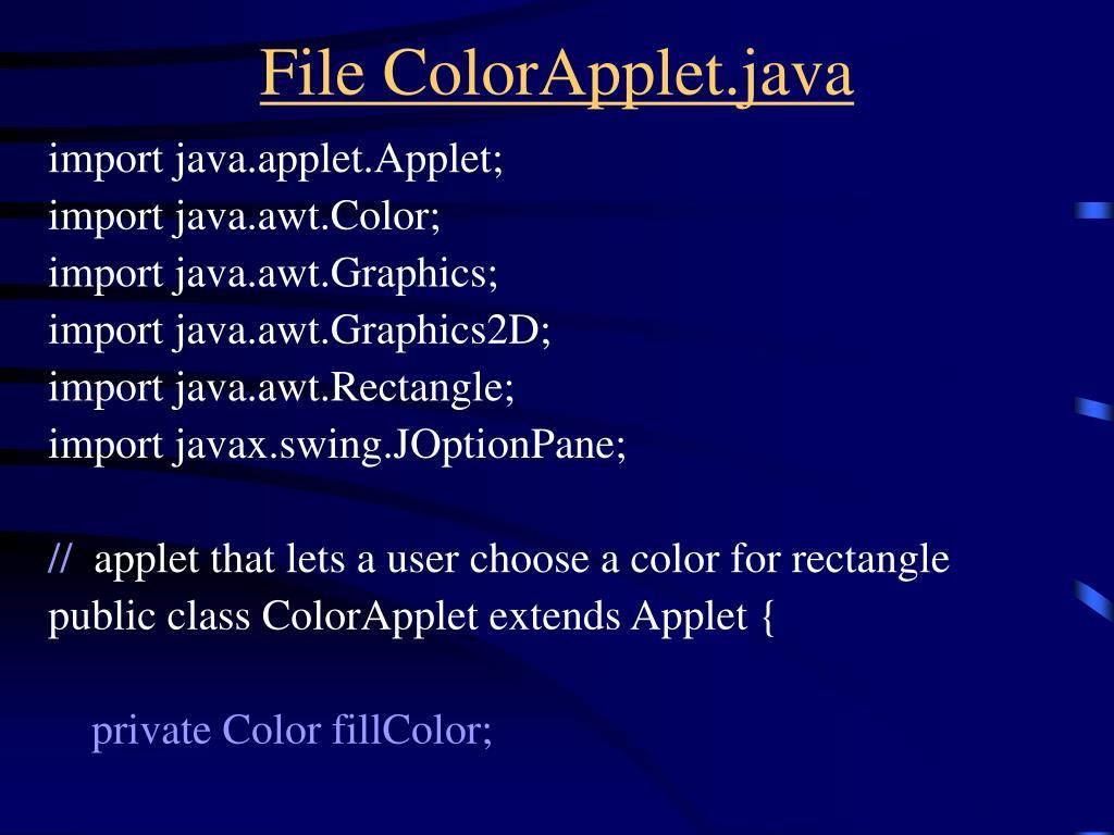 File ColorApplet.java