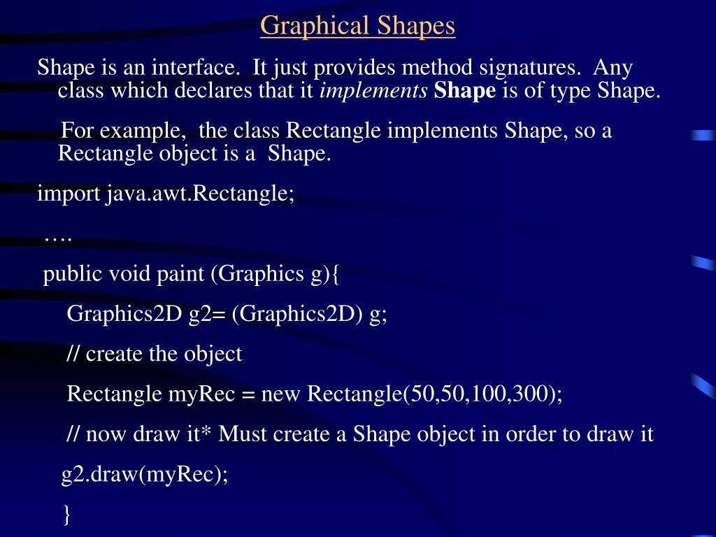 Graphical Shapes