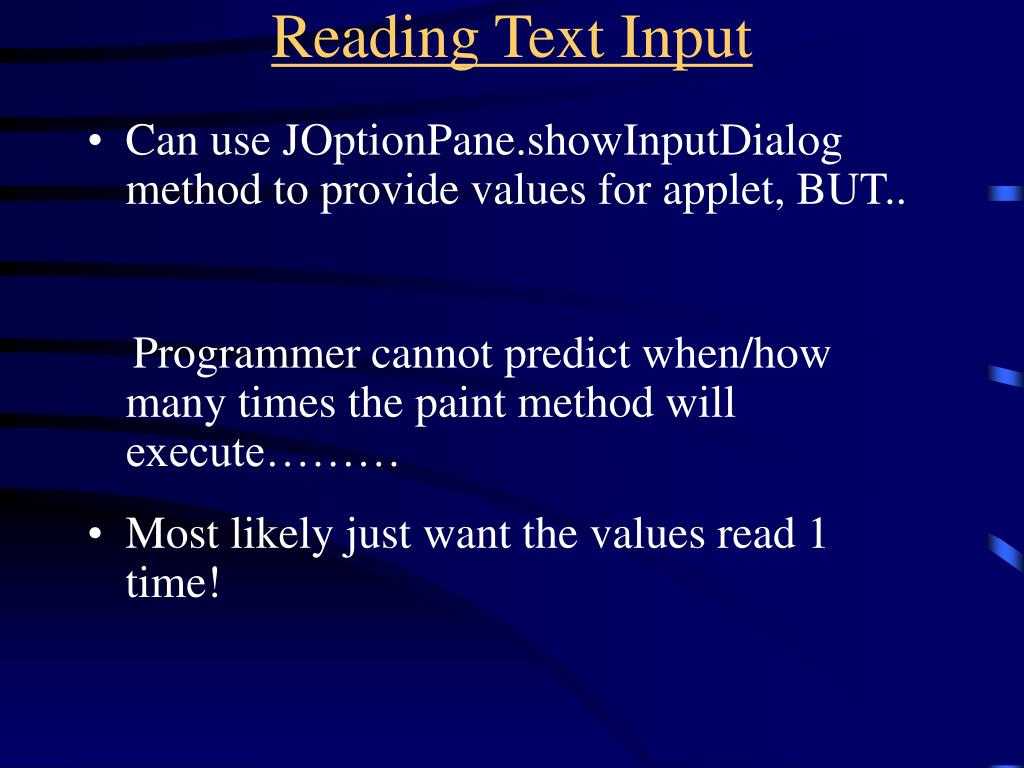 Reading Text Input