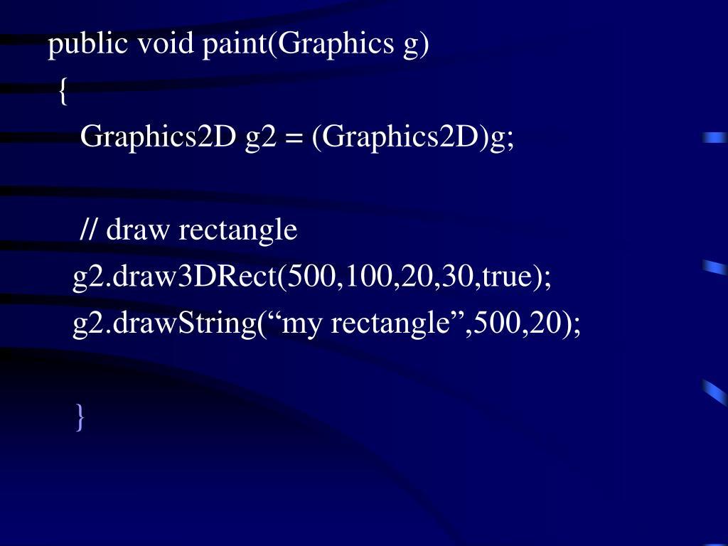 publicvoidpaint(Graphicsg)