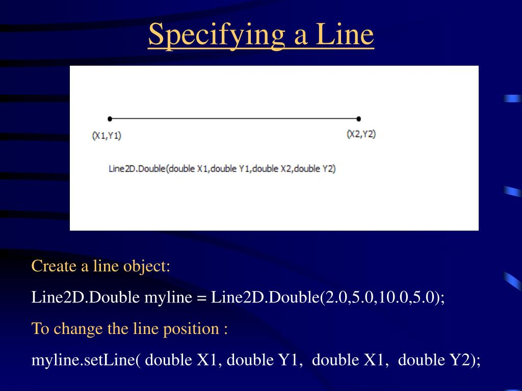 Specifying a Line