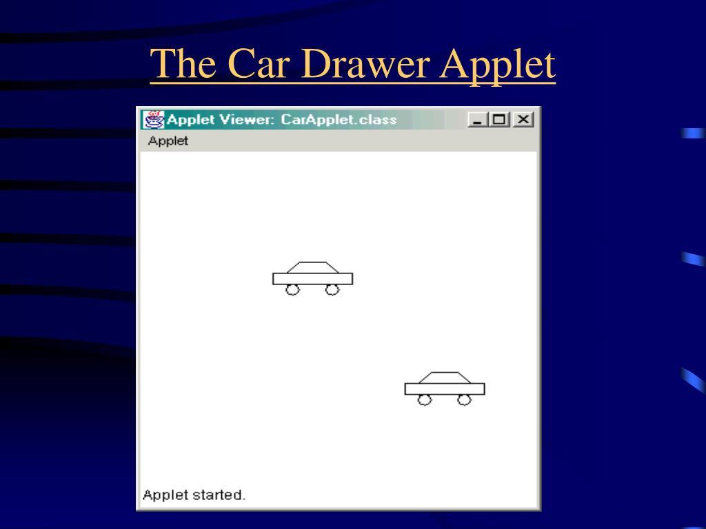 The Car Drawer Applet