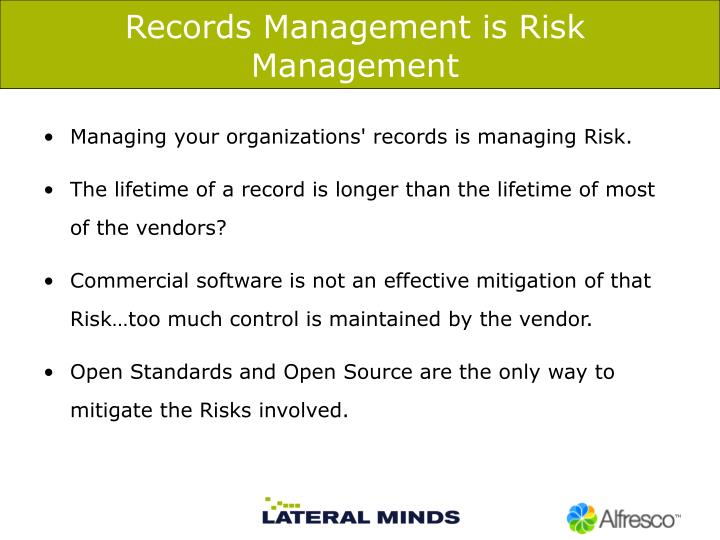 Records Management is Risk Management