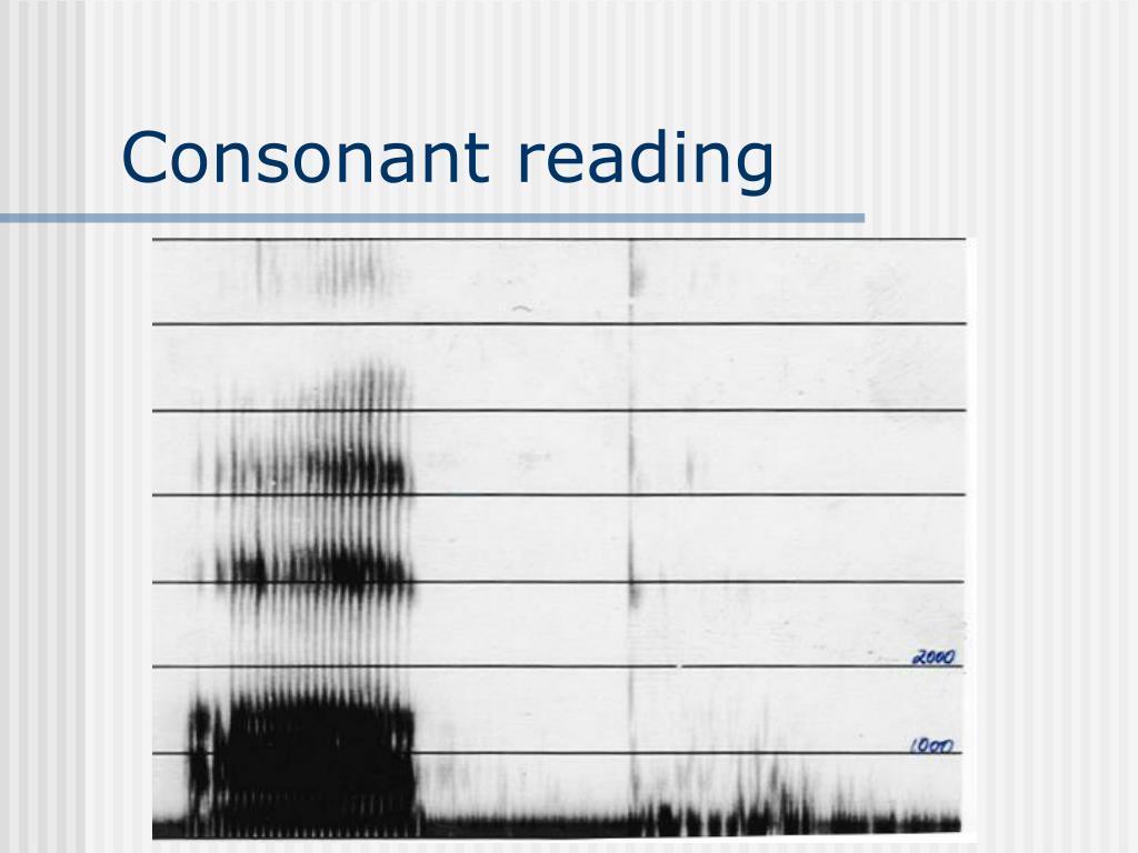 Consonant reading