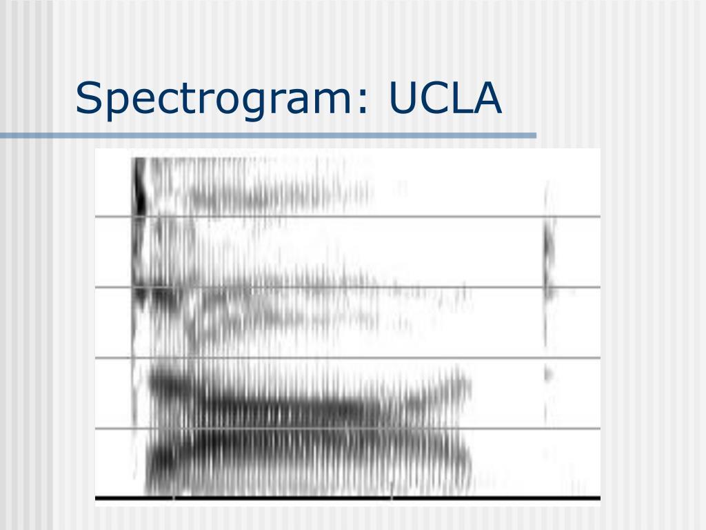 Spectrogram: UCLA