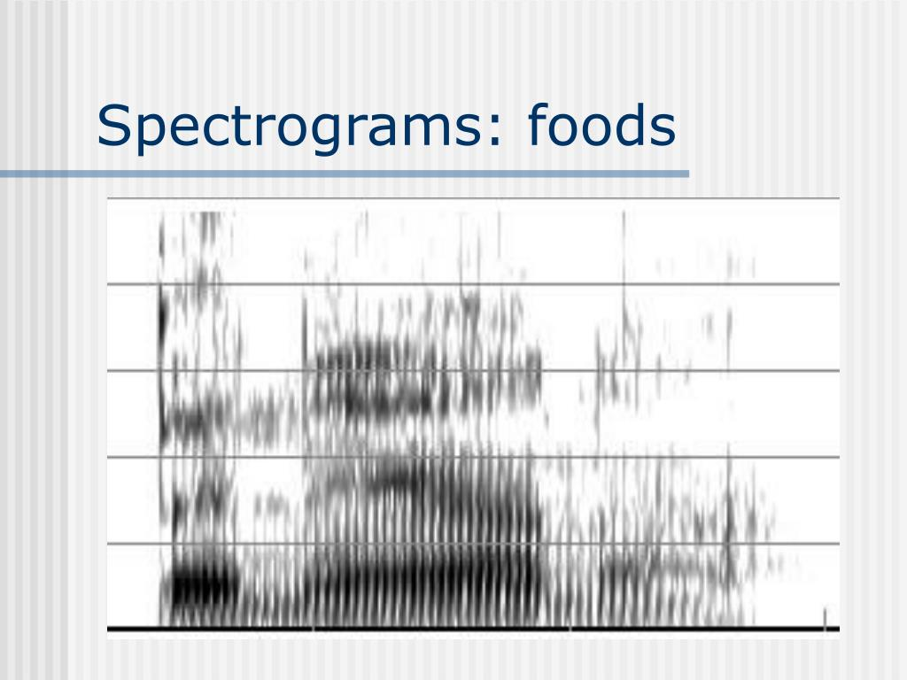 Spectrograms: foods