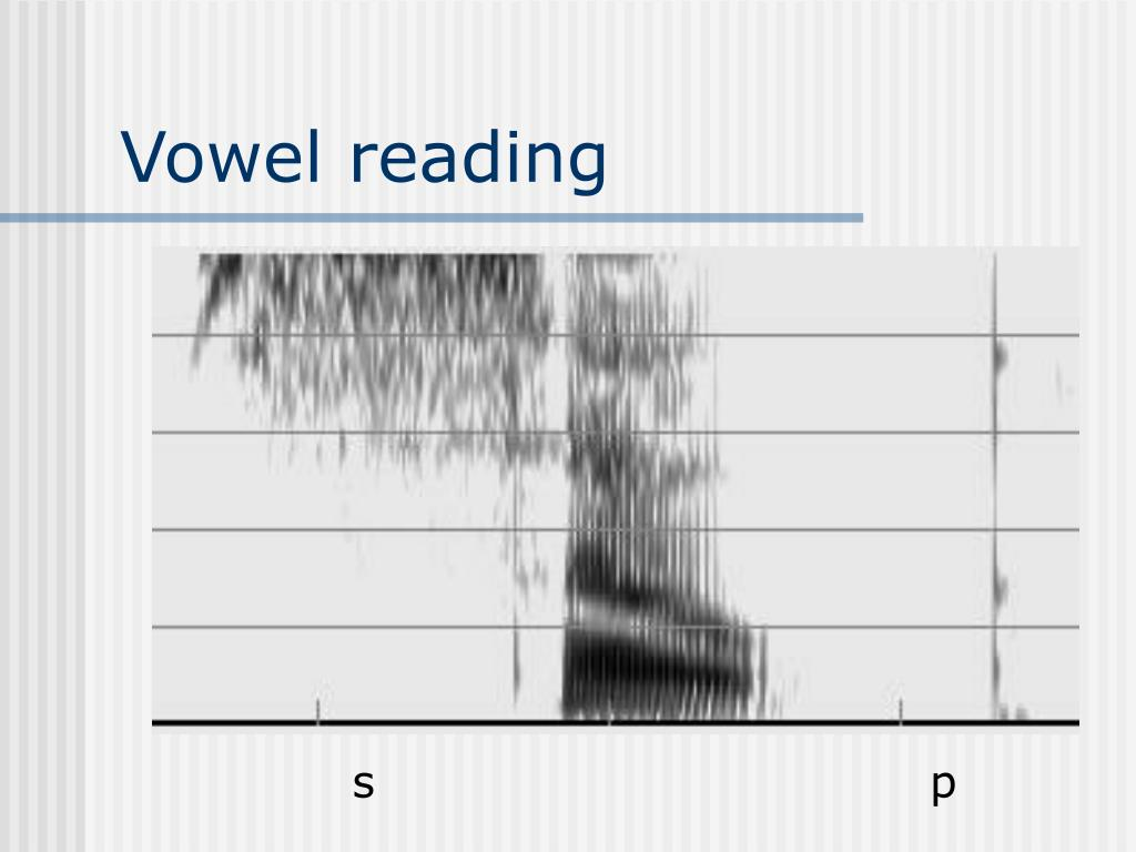 Vowel reading