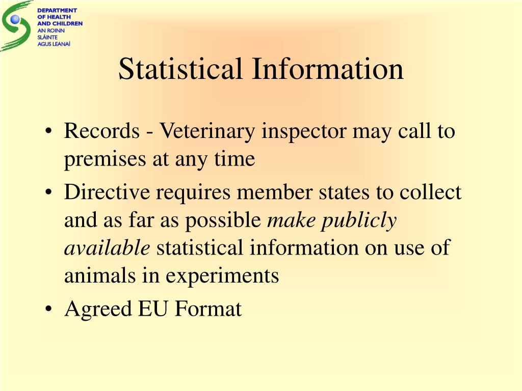 Statistical Information