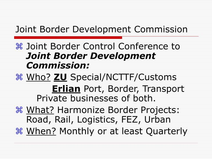 Joint Border Development Commission