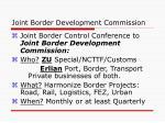 joint border development commission