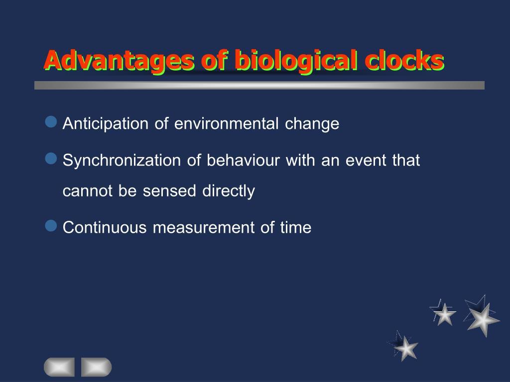 Advantages of biological clocks