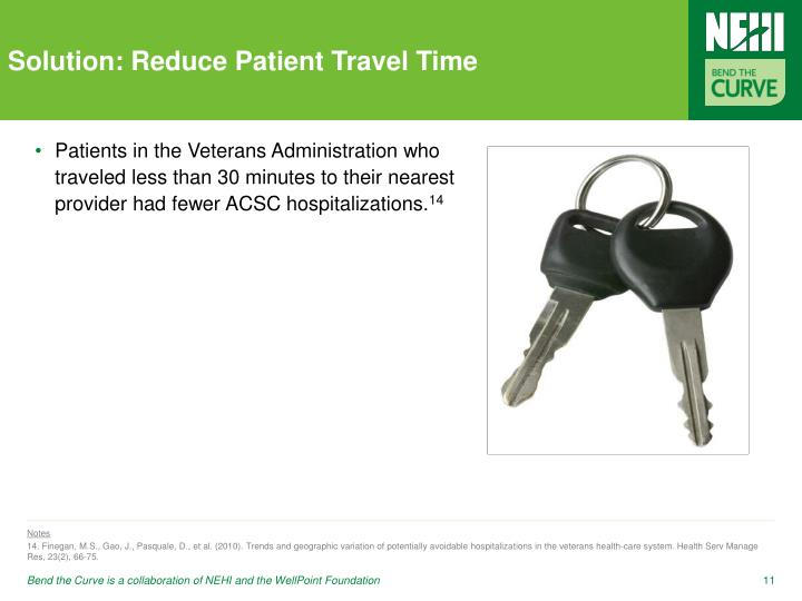 Solution: Reduce Patient Travel Time