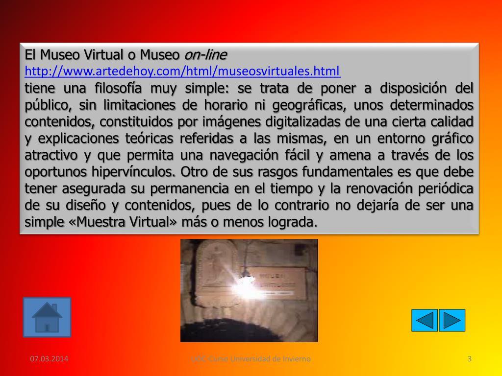 El Museo Virtual o Museo