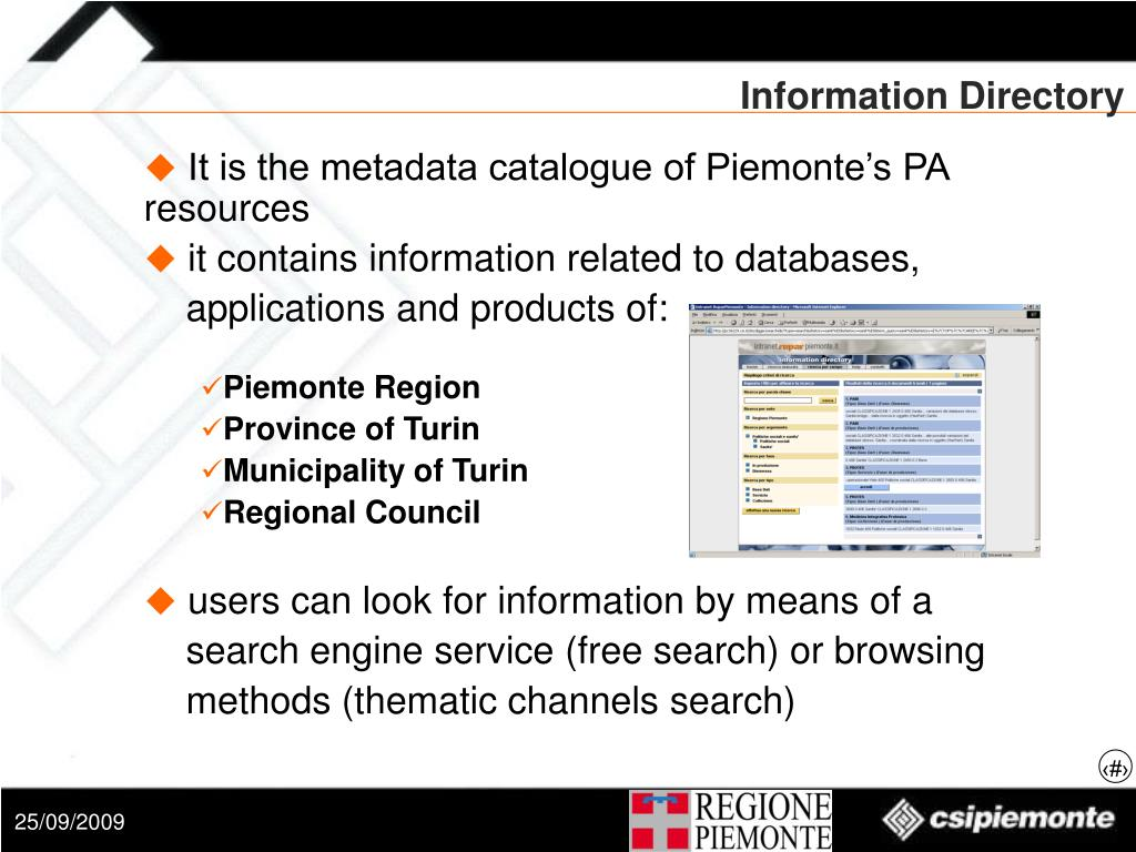 Information Directory
