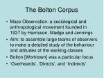 the bolton corpus