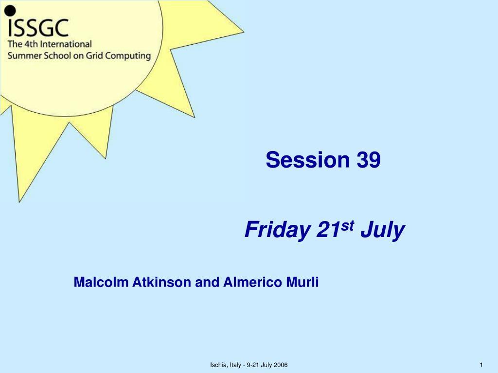 Session 39