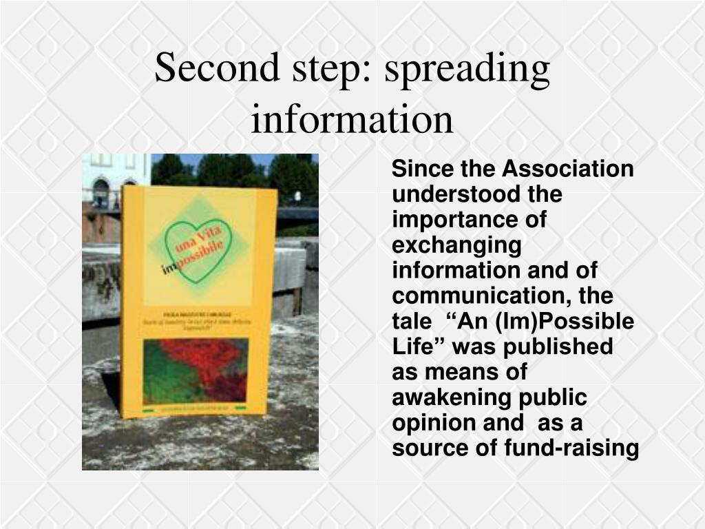 Second step: spreading information