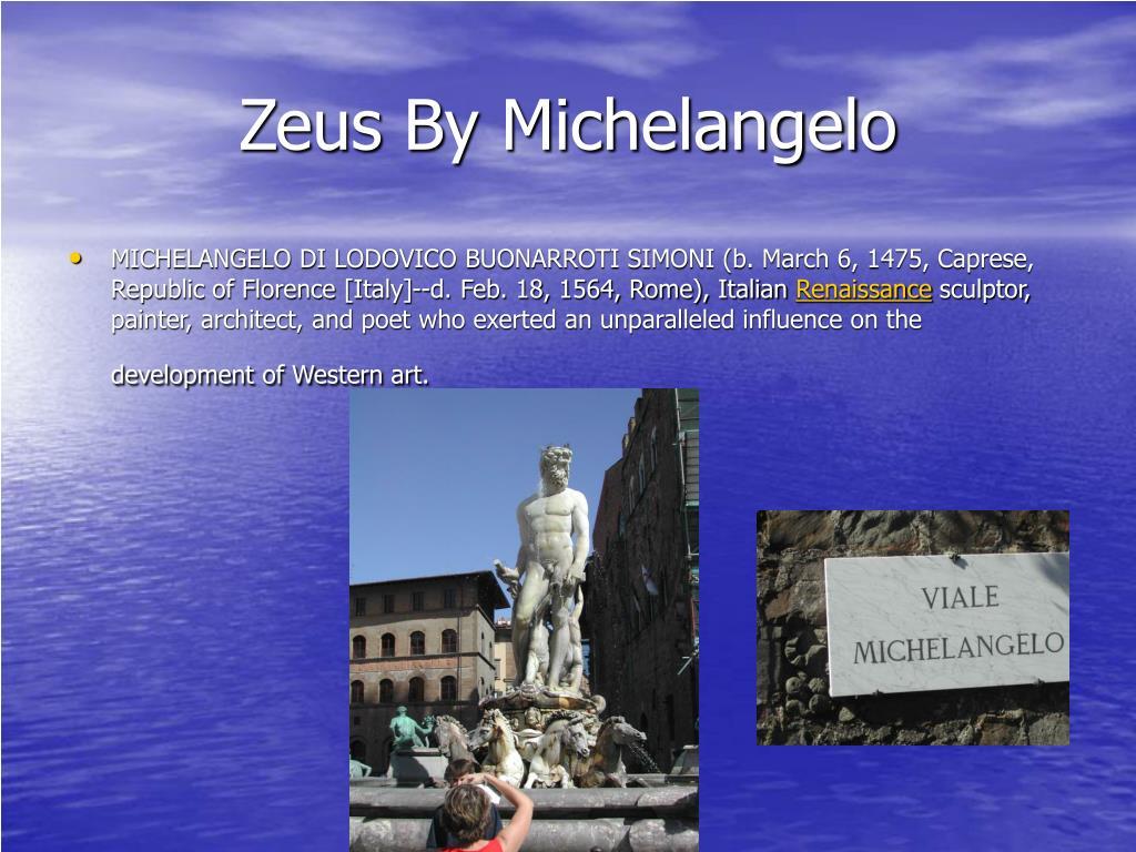 Zeus By Michelangelo