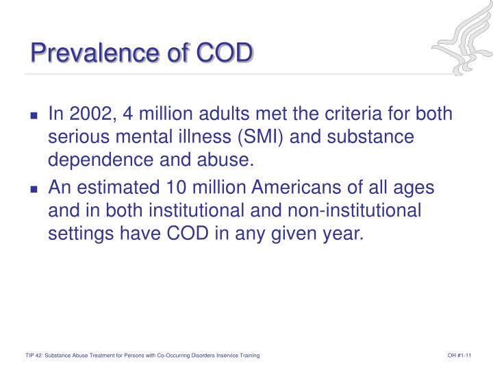 Prevalence of COD