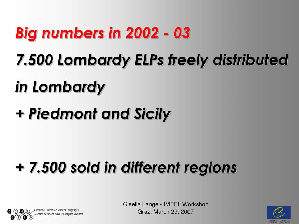 Big numbers in 2002 - 03