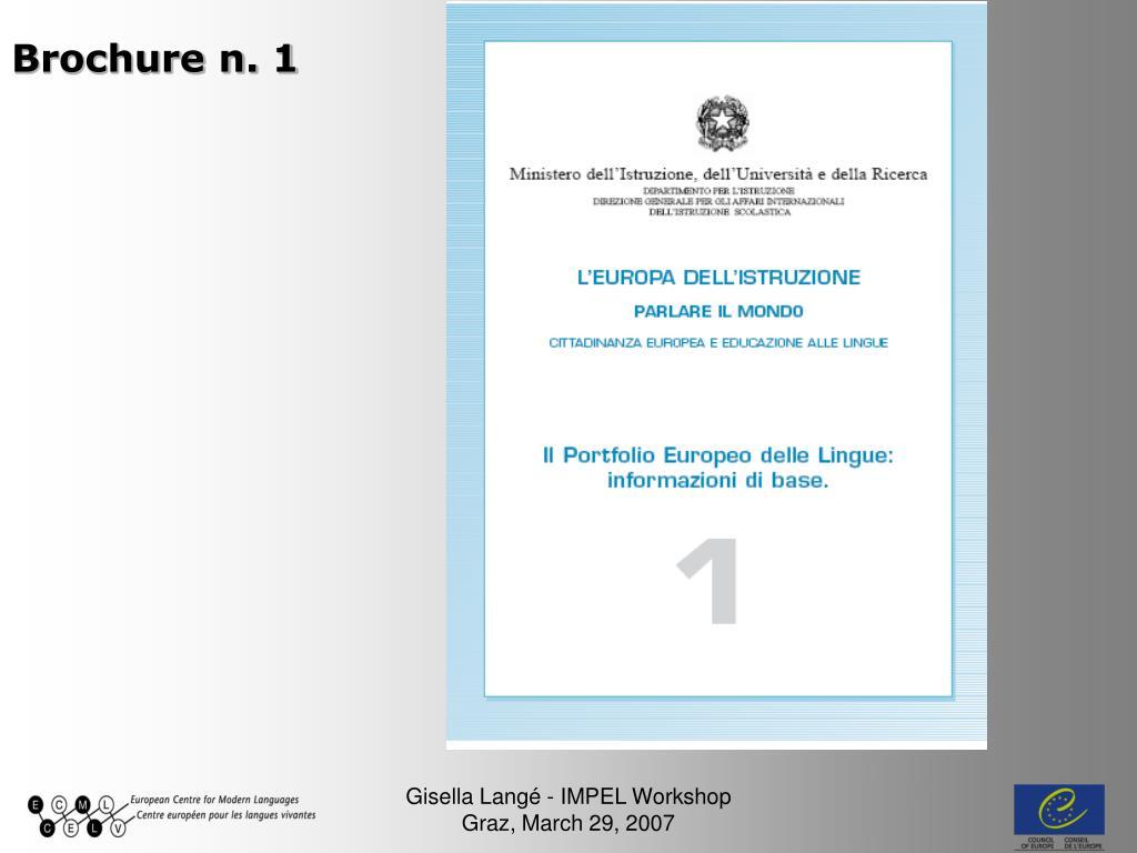 Brochure n. 1