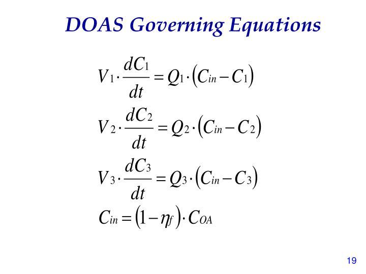 DOAS Governing Equations