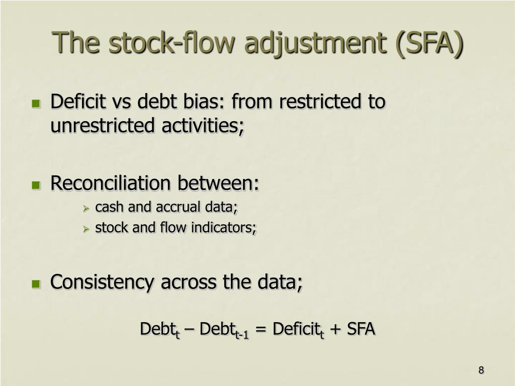The stock-flow adjustment (SFA)