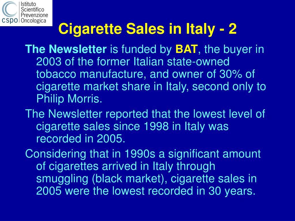 Cigarette Sales in Italy - 2