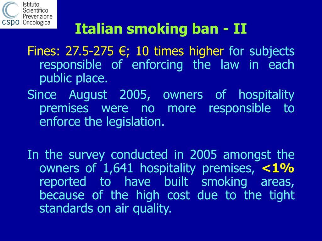 Italian smoking ban - II