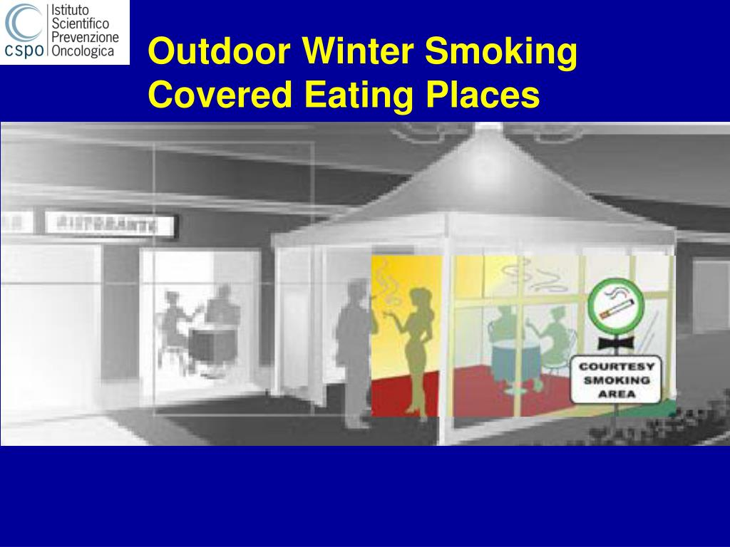 Outdoor Winter Smoking
